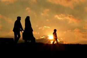 Family-Walk-Sunset-696x466